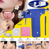 98Pcs High Quality Major Steel Ear Nose Navel Body Piercing Gun with Studs Tool Kit Sets