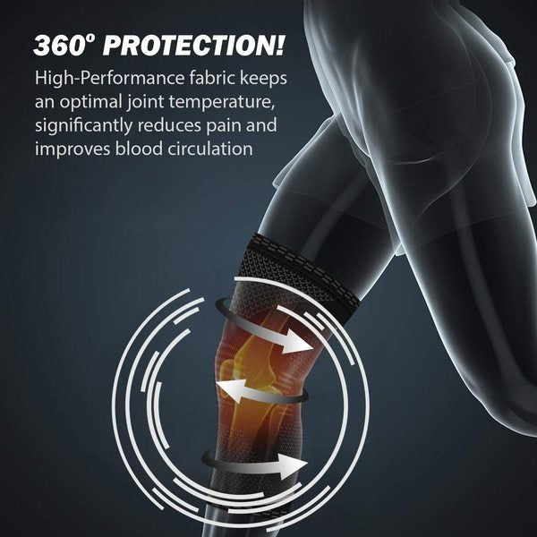 POWERLIX Knee Compression Sleeve - Best Knee Brace for Men & Women   Knee Support for Running, Basketball, Football, Volleyball, Weightlifting, Gym, Workout, Sports   PLEASE CHECK SIZING CHART