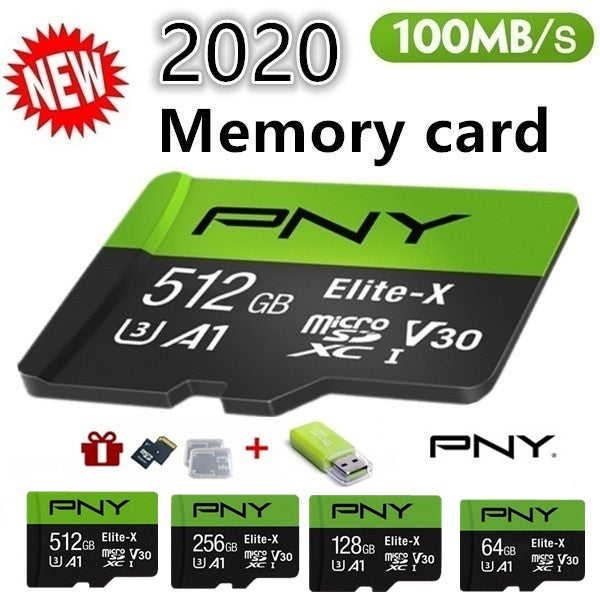 2020 new PNY high speed512GB 256GB 128GB 64GB USB drive Micro SD Micro SDHC Micro SD SDHC card 10 UHS-1 TF memory card + card reader