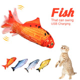 Electronic Pet Cat Toys Electric Simulation Fish Toy Rechargeable Washable