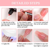 Nail Glitter Acrylic Poly Gel Crystal UV LED Bling Quick Builder Tips Enhancement Shinny Fast Extension Gel