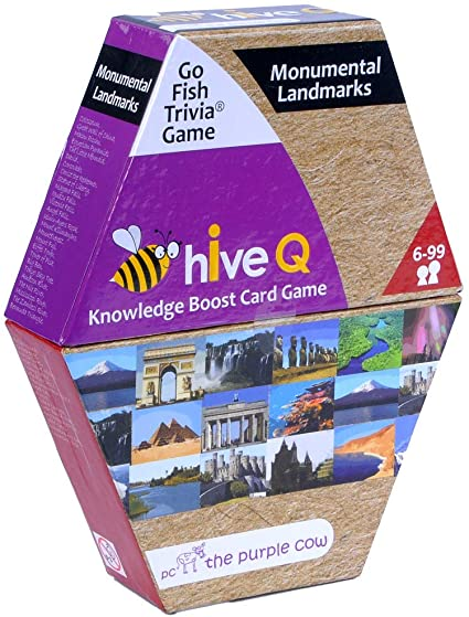 Purple Cow HiveQ Go Fish Trivia Game - Landmarks
