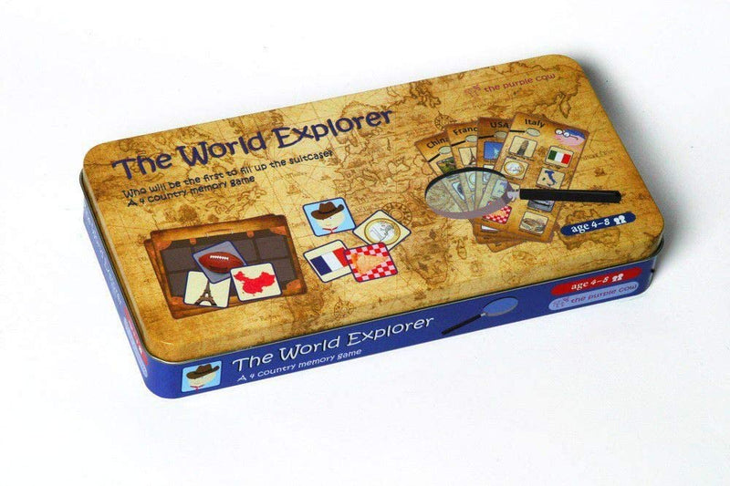 the Purple Cow The World Explorer Memory Board Game