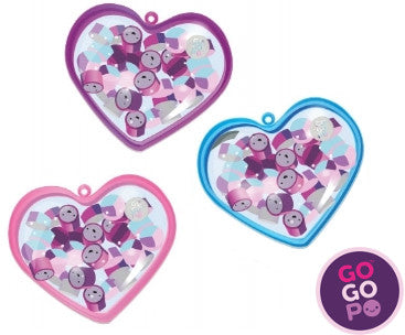 GoGoPo Mini Erasers in Heart Case
