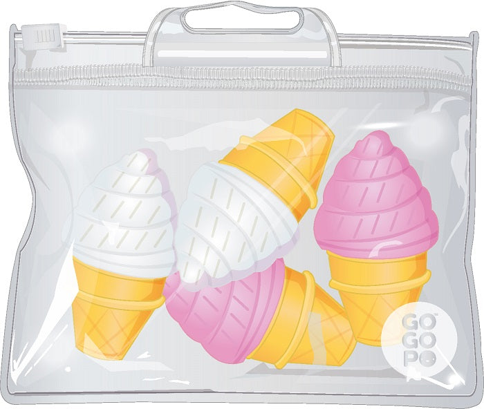 GoGoPo Mini Ice Cream Erasers