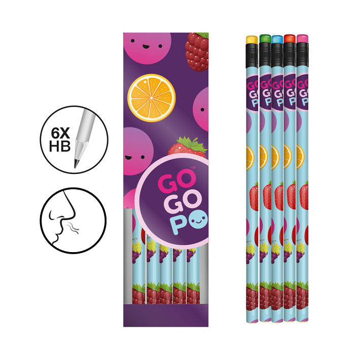 GoGoPo Scented Pencils 5pk