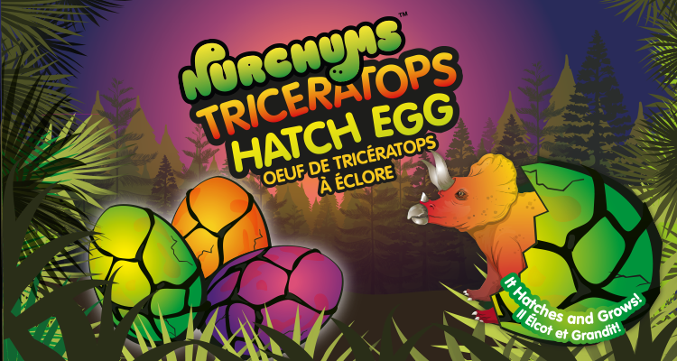 Nurchums Triceratops Dino Hatch Egg