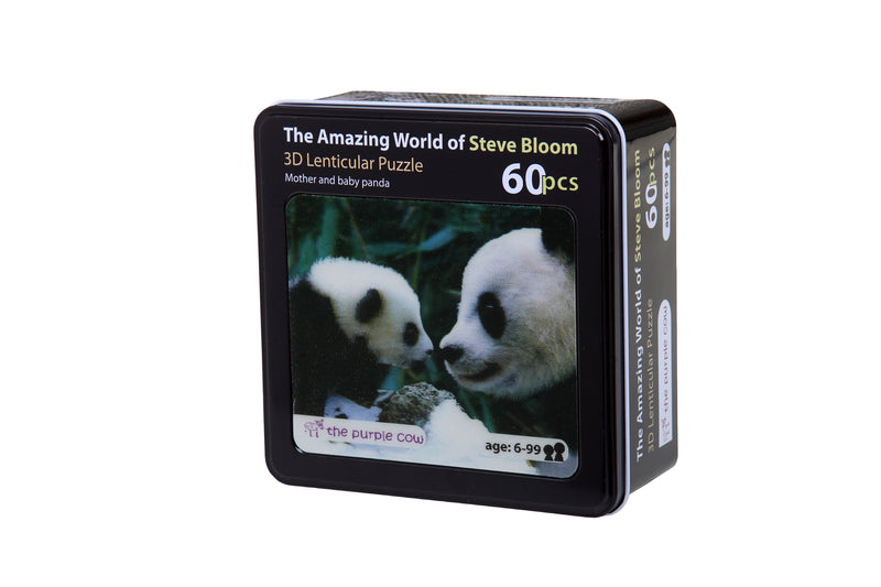 The Amazing World of Steve Bloom 3D Puzzle 60pcs Mother & Baby Panda