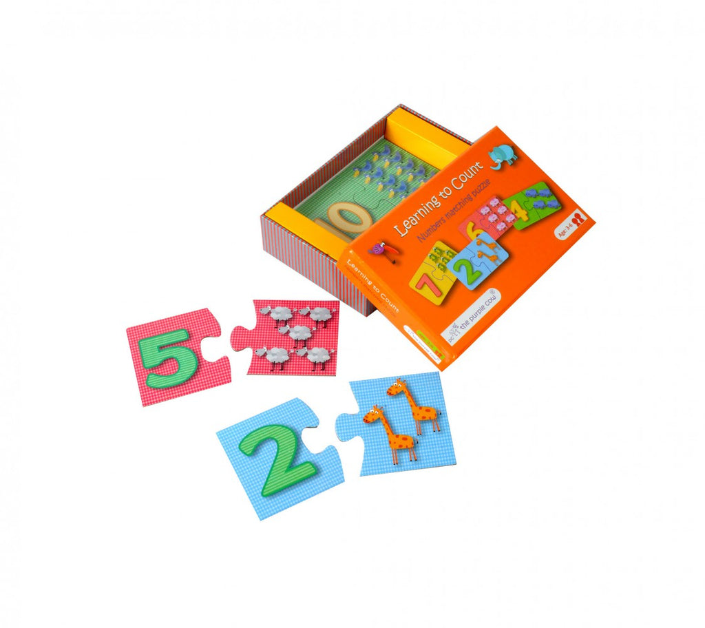 Purple Cow Learning to count Numbers Matching Puzzle