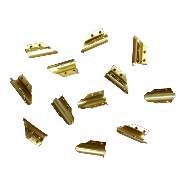 Ettore Brass End Clips (One Dozen)