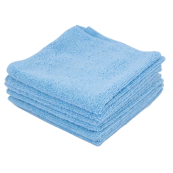 Ettore 13x13 Inch Blue MicroSwipe Cloths (6 Pack)