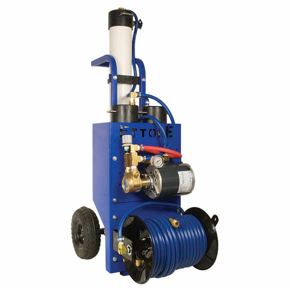 Ettore Aquaclean PW3 Cart Multi-stage Pure Water System w/Pump & Hose Reel
