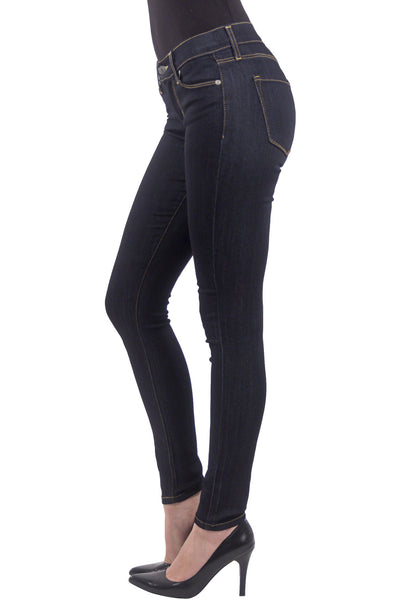 Eunina Jeans Women's Low Rise Soft Super Stretch Skinny Jean Jegging, Dark Wash