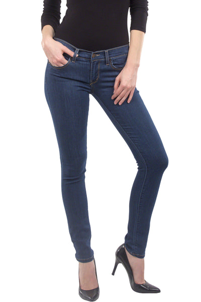 Eunina Jeans Women's Low Rise Soft Super Stretch Skinny Jean Jegging Medium Wash