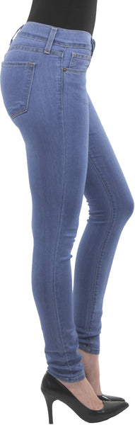 Eunina Jeans Women's Low Rise Soft Super Stretch Skinny Jean Jegging Light Wash