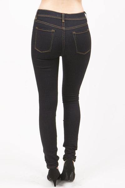 High Waist Dark Blue Skinny Jean by Eunina Jeans
