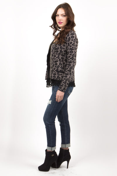 Chained Leopard Cardigan