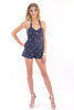 Tie Me Up In a Bow Romper - Navy