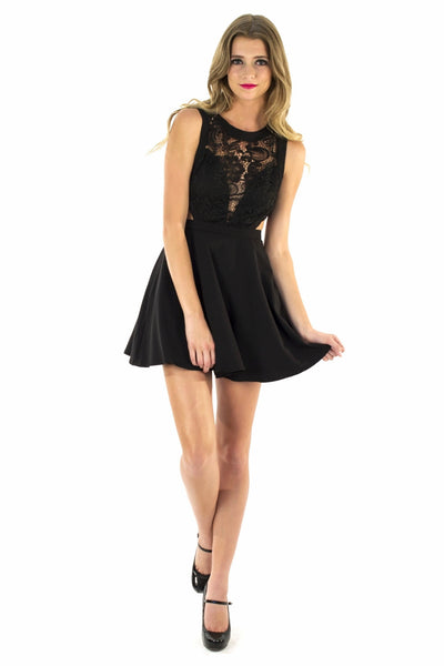 Black Beauty Peek-A-Boo Dress