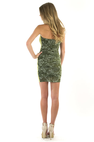 Candy Kiss Tube Dress - Emerald / Lime