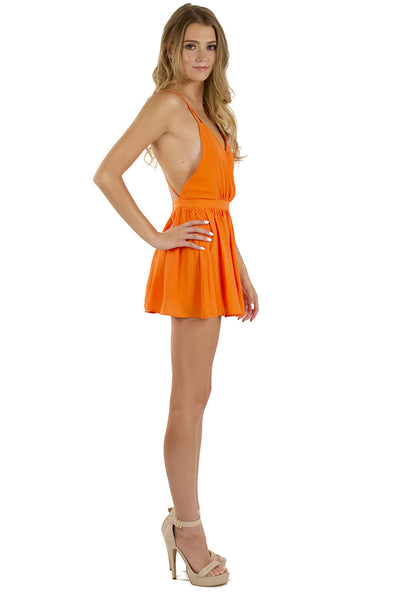 Luscious Romper - Neon Orange
