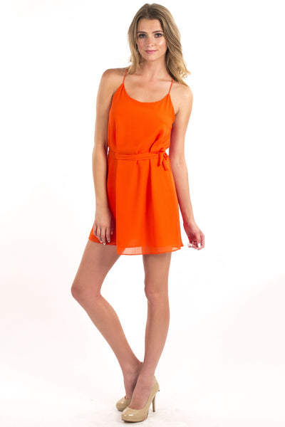 Speed Racer Dress - Flaming Orange