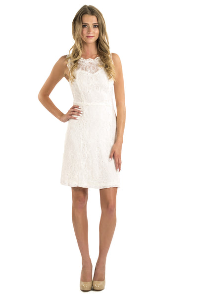Starfish Lace Dress - White