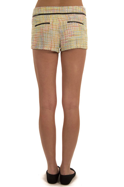 Weave It Shorts - Yellow