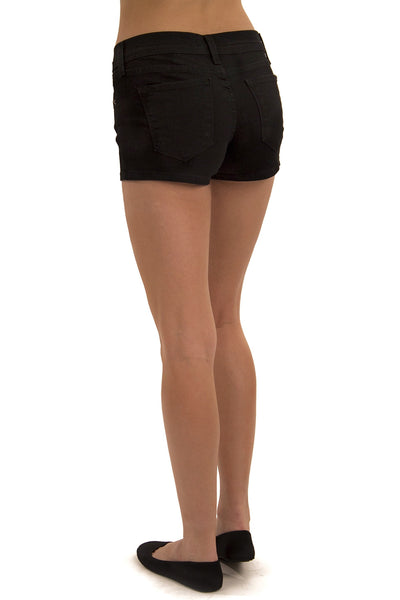 Black Mid Rise Shorts By Eunina Jeans