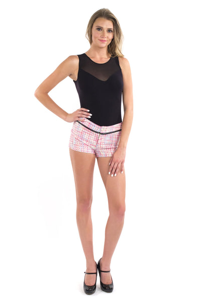 Weave It Shorts - Pink