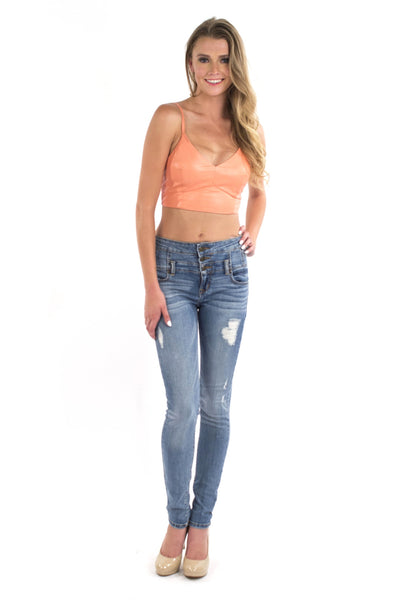 Sweet As Peach Bralette by Lush Clothing