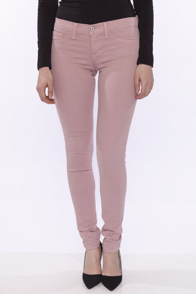 Low-Mid Rise Clean Super Soft Stretch Skinny Jean Jegging by Flying Monkey, Delicate Rose Pink
