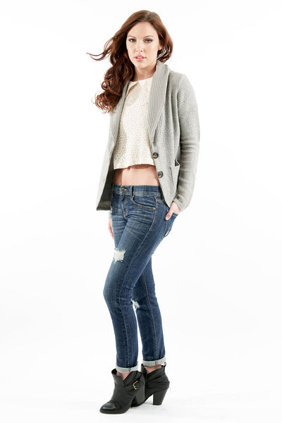 Michelle Blazer Cardigan - Heather Gray by Prima Collection