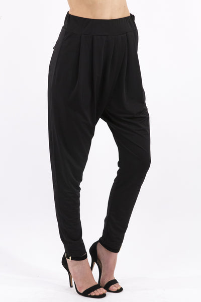 Black Harem Pants by Comme USA