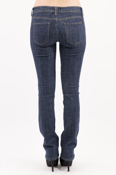 Mid Rise Boot Cut Jean - Denim Dark Wash by Eunina Jeans