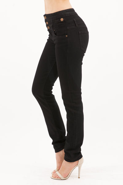 Eunina Jeans Women's High Waisted Stretch Skinny Denim Jeans - Black Wash
