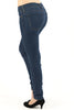 Plus Size Mid Rise Super Stretchy Soft Skinny Jean - Medium Wash By Eunina Jeans