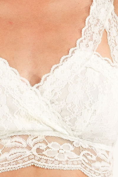 White Lacey Bra Top
