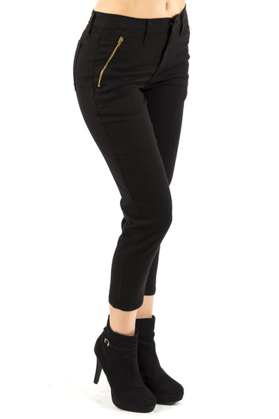 High Rise Tapered Trouser - Black by Eunina Jeans