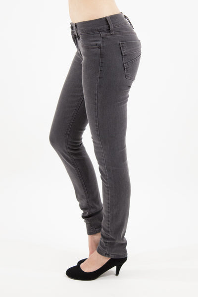 Mid Rise Skinny Jean - Charcoal by Eunina Jeans