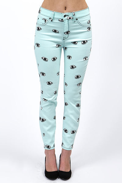 Mint Eye On You Mid-Rise Skinny Mod Jean by Pistola Denim