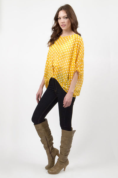 Yellow Polka Dot Blouse