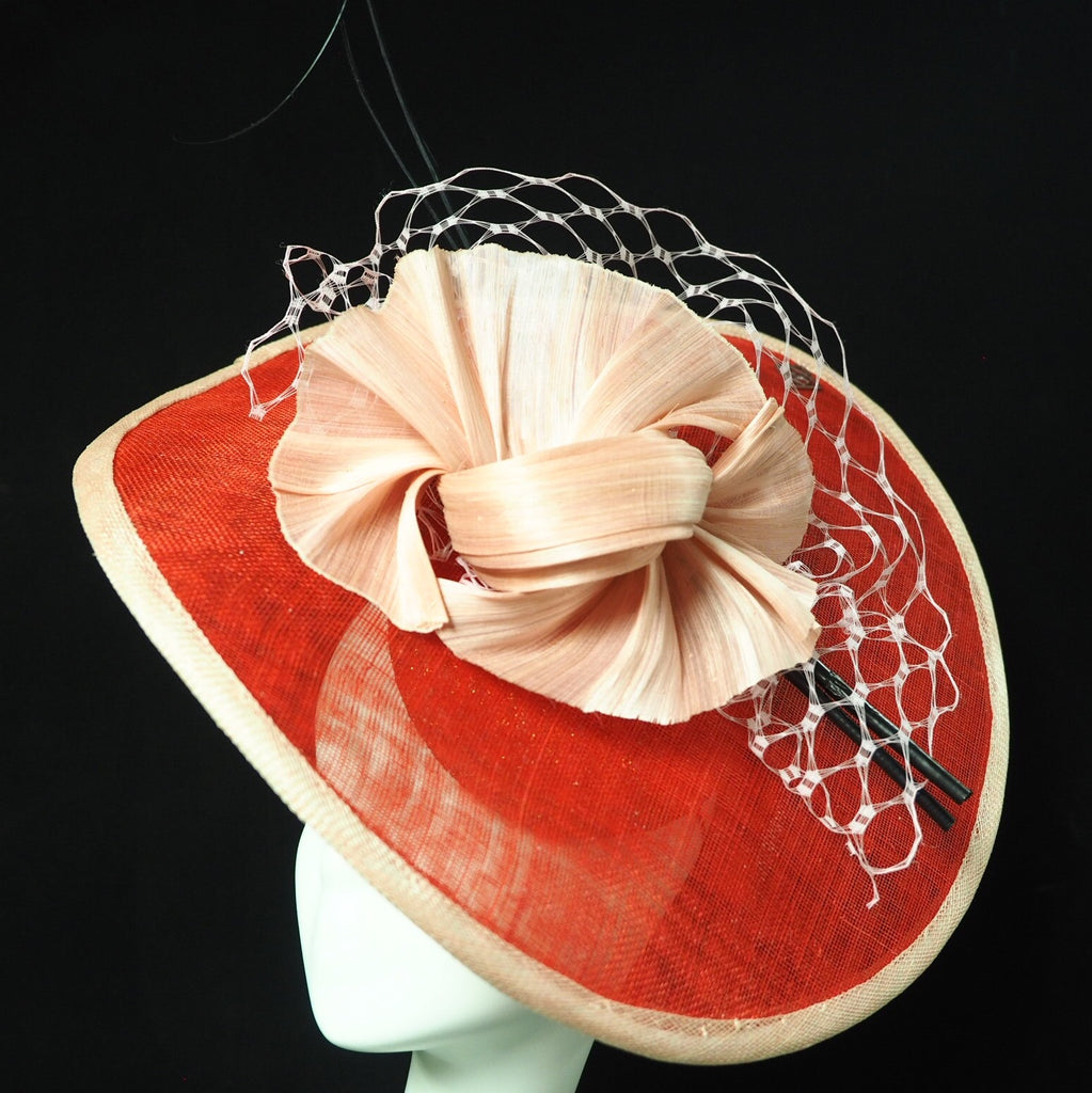 Pink Silk Straw Hat rental hong kong