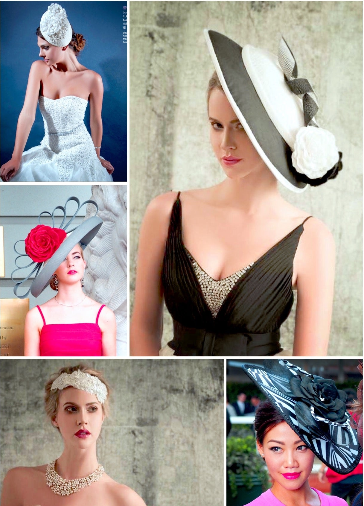 Designer occasion hats custom made hat maker noeleen millinery Hong Kong