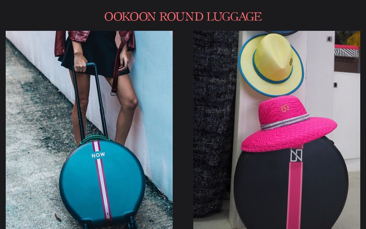 OOKOON ROUND ROLLING LUGGAGE HAT CASE