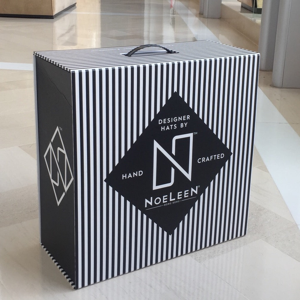 Noeleen Millinery Hat Box and hats hong kong luxury packaging