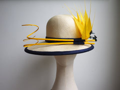 Naomi - Cream straw special occasion hat - NOELEEN MILLINERY HONG KONG