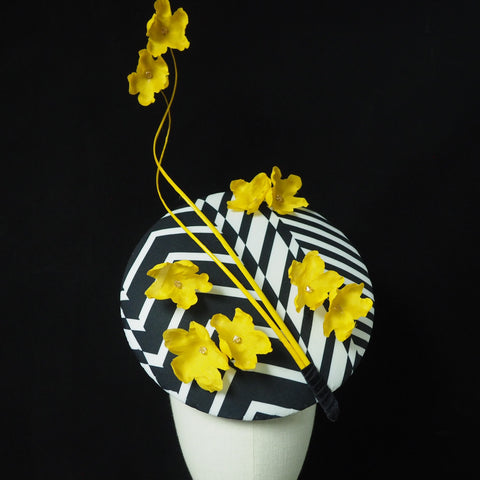 Buttercup - Designer Percher Hat - NOELEEN MILLINERY HONG KONG