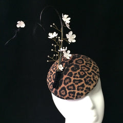 Leopard print cocktail hat - NOELEEN MILLINERY HONG KONG