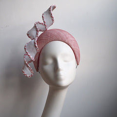 Candy Crown - Pink & White Crown headpiece - NOELEEN MILLINERY HONG KONG